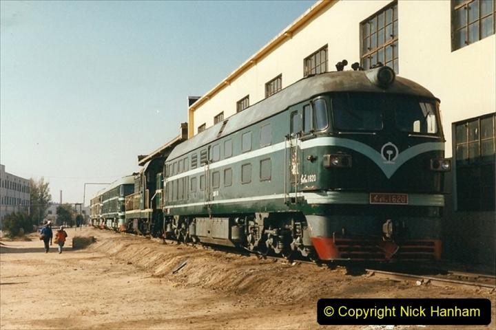 China 1999 October Number 2. (80) China Rail Tongliao Shed.