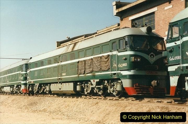 China 1999 October Number 2. (81) China Rail Tongliao Shed.