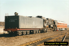 China 1999 October Number 2. (28) China Rail Tongliao Shed.