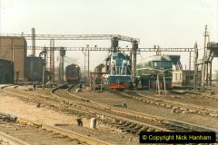 China 1999 October Number 2. (55) China Rail Tongliao Shed.