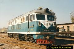 China 1999 October Number 2. (66) China Rail Tongliao Shed.