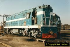 China 1999 October Number 2. (74) China Rail Tongliao Shed.