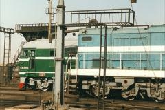 China 1999 October Number 2. (75) China Rail Tongliao Shed.