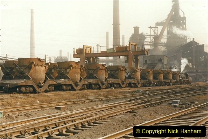 China 1999 October Number 3. (108) Anshan Steel Works. The works area was very, very dirty.  108