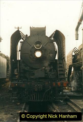 China 1999 October Number 3. (156)  China Rail Lingfen Depot156