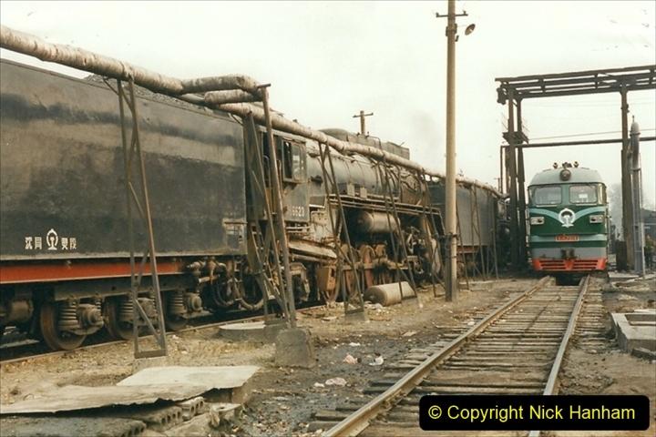 China 1999 October Number 3. (159)  China Rail Lingfen Depot159