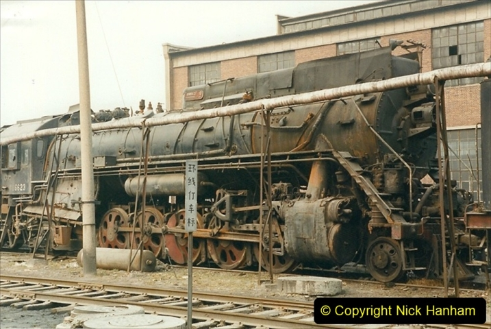 China 1999 October Number 3. (160)  China Rail Lingfen Depot160