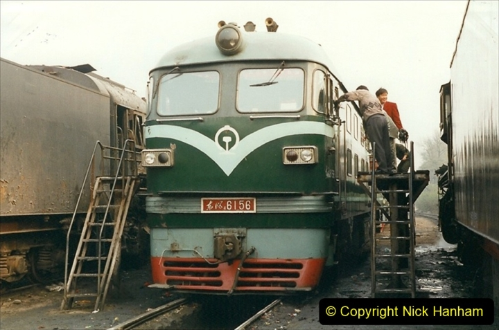 China 1999 October Number 3. (172)  China Rail Lingfen Depot172