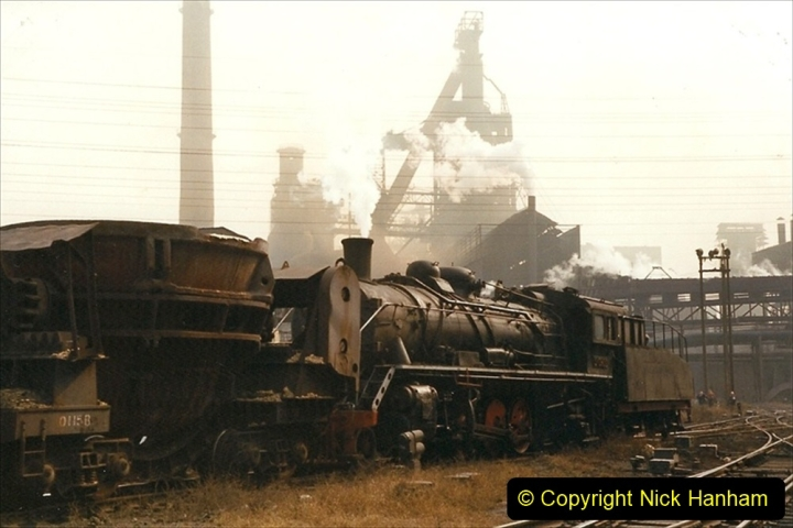 China 1999 October Number 3. (20) Anshan Steel Works. The works area was very, very dirty.  020