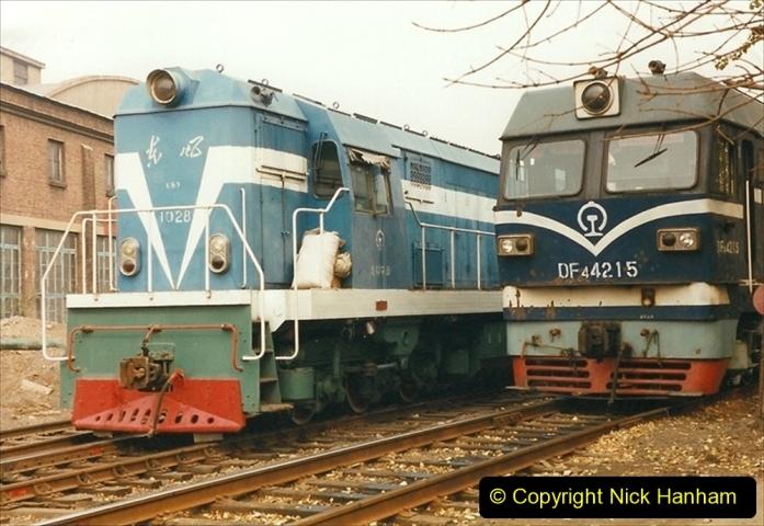 China 1999 October Number 3. (238) China Rail Sujiatum Diesel Depot. 238