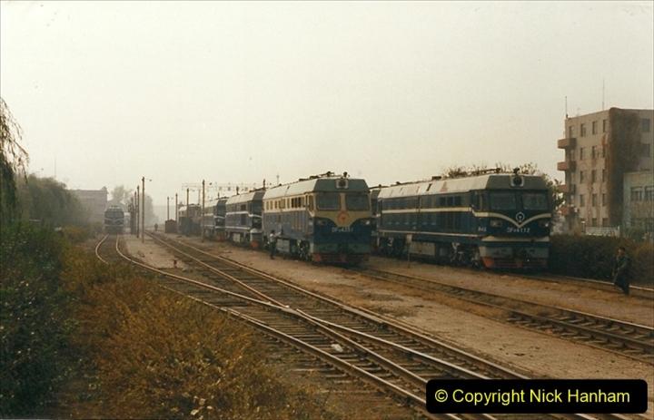 China 1999 October Number 3. (241) China Rail Sujiatum Diesel Depot. 241