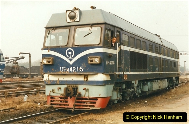 China 1999 October Number 3. (243) China Rail Sujiatum Diesel Depot. 243