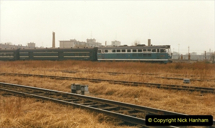 China 1999 October Number 3. (254) China Rail Sujiatum Diesel Depot. 254