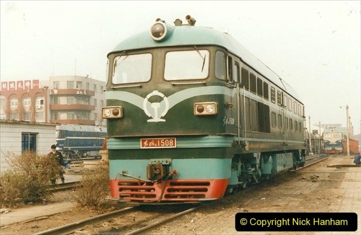 China 1999 October Number 3. (257) China Rail Sujiatum Diesel Depot. 257