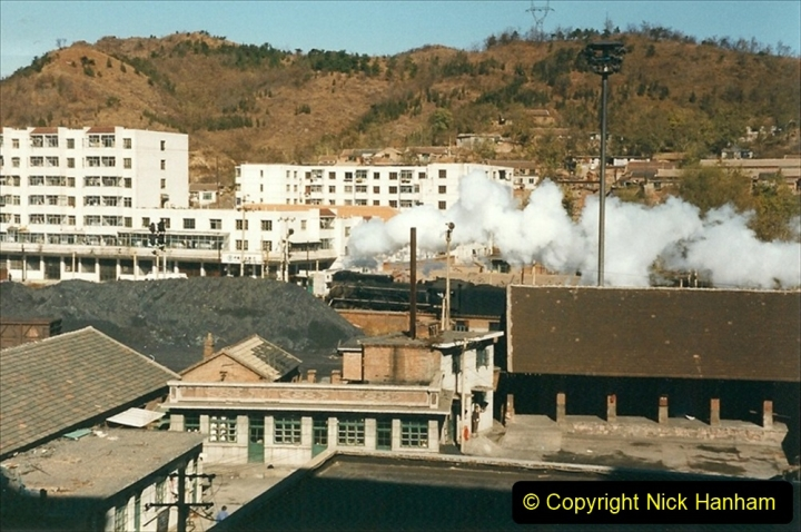 China 1999 October Number 3. (375) Leaving Chegde JS on passenger train. 375