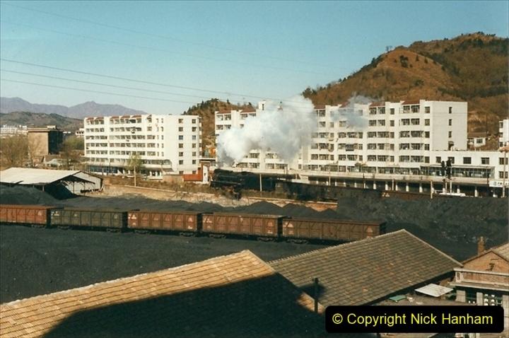 China 1999 October Number 3. (376) Leaving Chegde JS on passenger train. 376