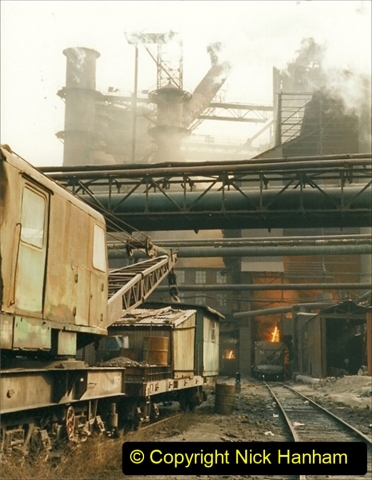 China 1999 October Number 3. (40) Anshan Steel Works. The works area was very, very dirty.  040