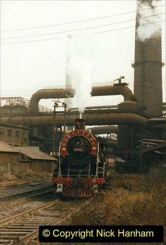 China 1999 October Number 3. (83) Anshan Steel Works. The works area was very, very dirty.  083