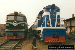 China 1999 October Number 3. (154)  China Rail Lingfen Depot154