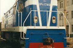 China 1999 October Number 3. (170)  China Rail Lingfen Depot170