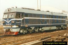 China 1999 October Number 3. (239) China Rail Sujiatum Diesel Depot. 239