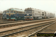 China 1999 October Number 3. (242) China Rail Sujiatum Diesel Depot. 242