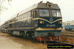 China 1999 October Number 3. (245) China Rail Sujiatum Diesel Depot. 245