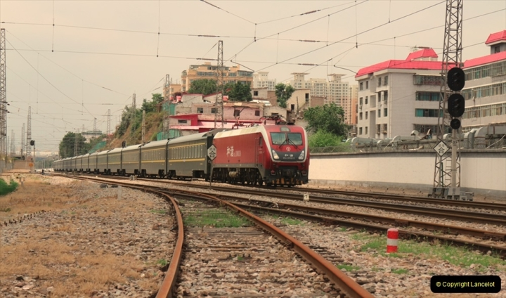 China & UK. (13) Train on Lunghai Raileway at Lanzhou. 012