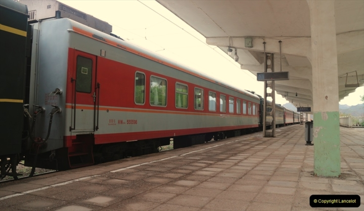 China & UK. (14) Rare colour coaches on China Rail. 013