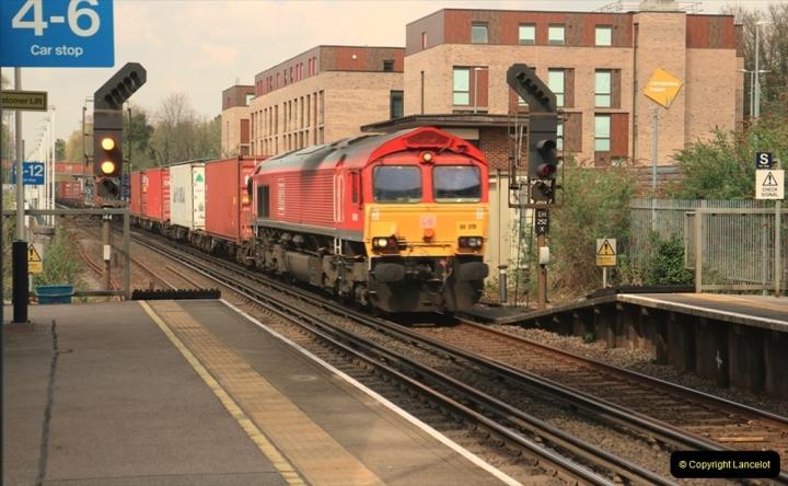 China & UK. (18) Class 66 at Winchester, Hampshire. 017
