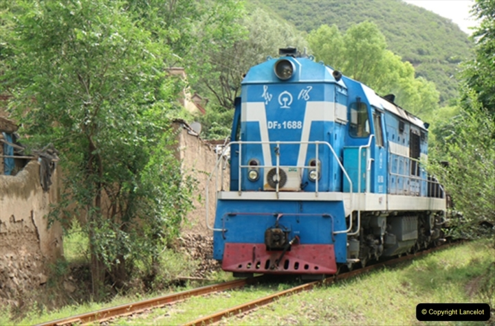 China & UK. (18) DF5 on colliery branch in countryside near Lanzhou. 018