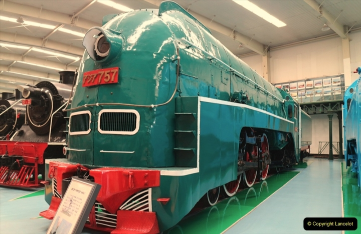 China & UK. (6) South Manchuria Railway  loco at Shenyang  Railway Museum is a sole survivor of air smothed casing operated. 006