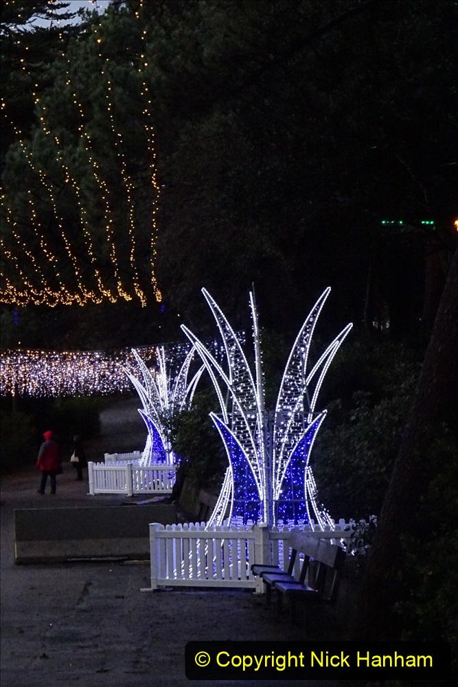 2019-12-12 Christmas Cracker & Bournemouth (47) Lower Gardens lights. 047