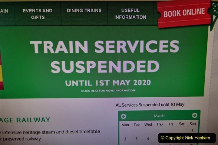 2020 03 23 Covid 19 shuts the Swanage Railway (1) 001