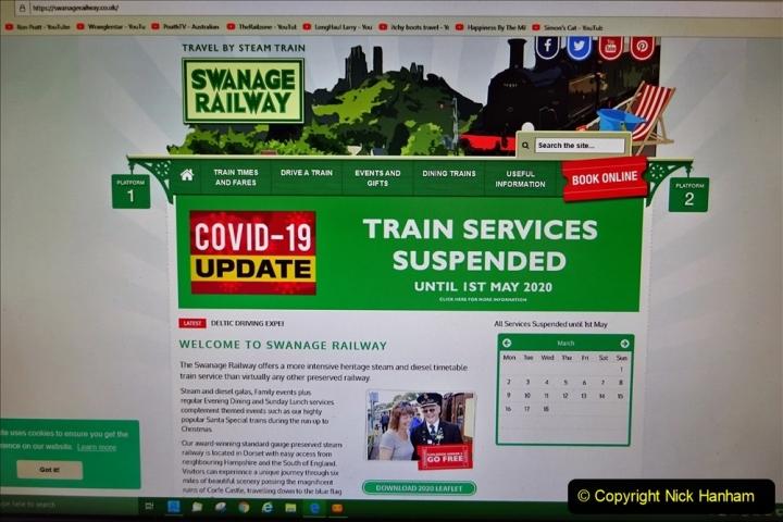 2020 03 23 Covid 19 shuts the Swanage Railway (2) 002