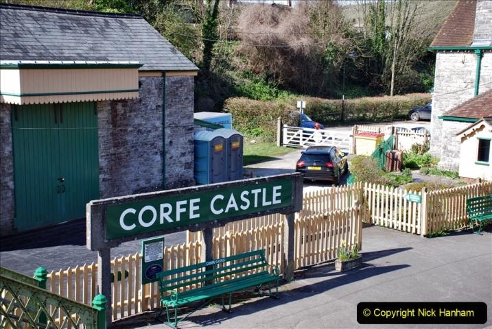 2020-03-23 Covid 19 shuts the Swanage Railway. (88) Corfe Castle. 088