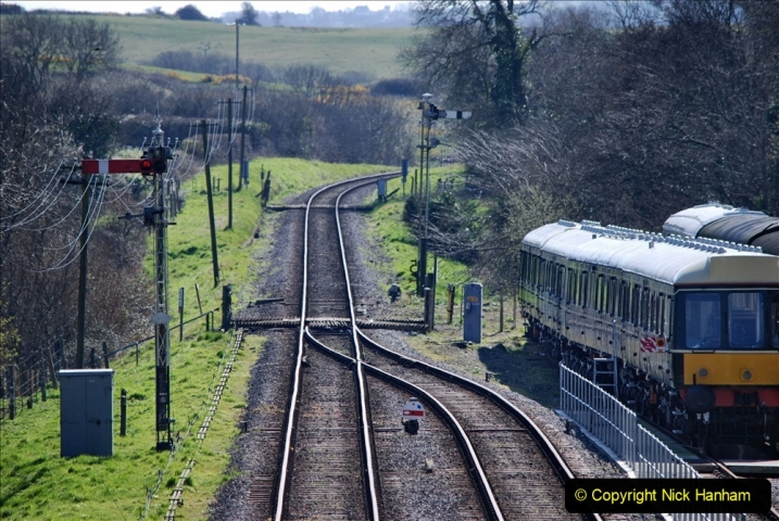 2020-03-23 Covid 19 shuts the Swanage Railway. (91) Corfe Castle. 091