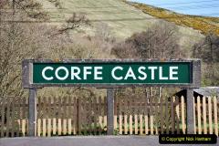 2020-03-23 Covid 19 shuts the Swanage Railway. (81) Corfe Castle. 081