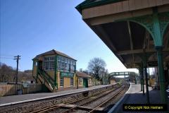 2020-03-23 Covid 19 shuts the Swanage Railway. (82) Corfe Castle. 082