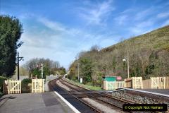 2020-03-23 Covid 19 shuts the Swanage Railway. (83) Corfe Castle. 083