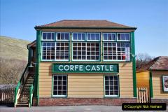 2020-03-23 Covid 19 shuts the Swanage Railway. (84) Corfe Castle. 084