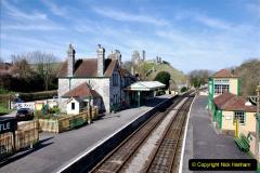 2020-03-23 Covid 19 shuts the Swanage Railway. (87) Corfe Castle. 087
