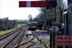 2020-03-23 Covid 19 shuts the Swanage Railway. (92) Corfe Castle. 092