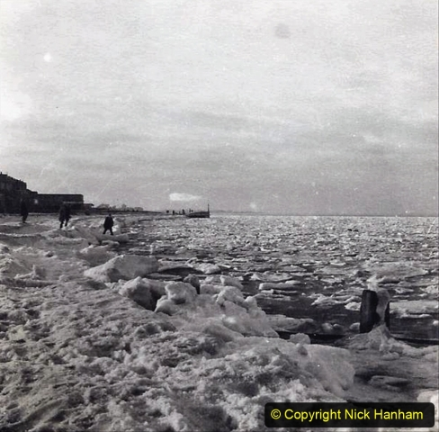 D and C Hodges Collection 2. (9) Frozen sea ice Sheerness, Kent  January 1963. 009