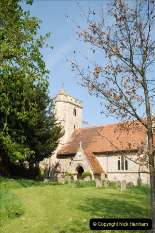 2019-04-14 to 15 Dorchester-on-Thames, Oxfordshire. (91) A walk near Dorchester and the River Thames. Little Wittenham Church. 94091