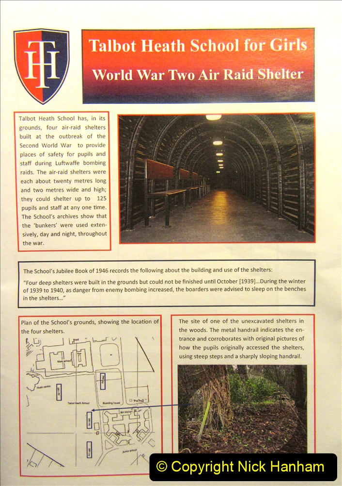 2019-09-14 WW2 Bomb Shelter at Talbot Heath School Bournemouth. (1) 01