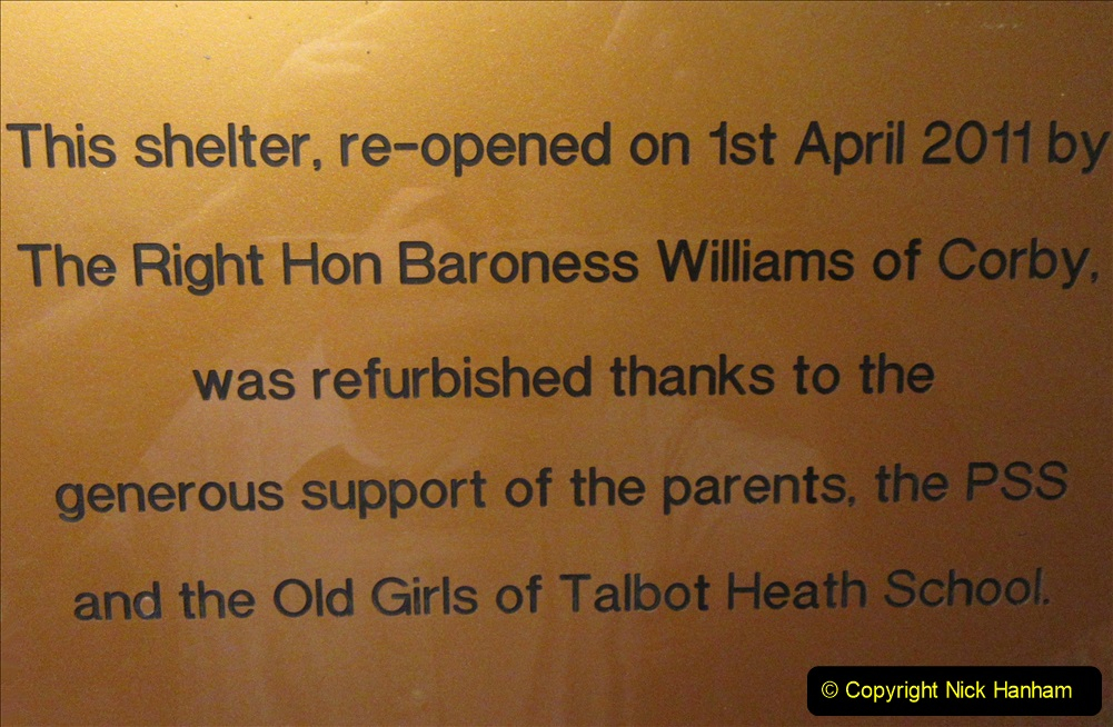 2019-09-14 WW2 Bomb Shelter at Talbot Heath School Bournemouth. (10) 10