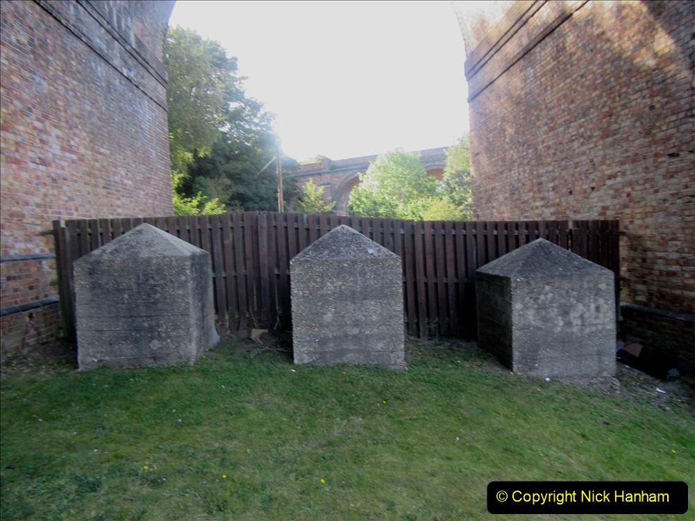 2019-09-14 WW2 Dragon's Teeth (Tank Trap) Under the railway arches at Branksome, Poole, Dorset. (2) 56