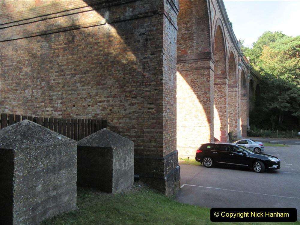 2019-09-14 WW2 Dragon's Teeth (Tank Trap) Under the railway arches at Branksome, Poole, Dorset. (4) 58