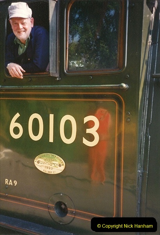 1994-07-18 to 22 Your Host spends a week driving Flying Scotsman.  (13) 034